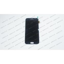 Модуль матрица + тачскрин  для Samsung Galaxy S6 DS (G920), black (OLED) (HIGH Q)