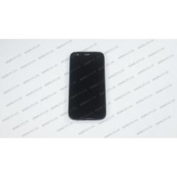 Модуль матрица + тачскрин  для Motorola Moto G Black UACRF, black (С РАМКОЙ)