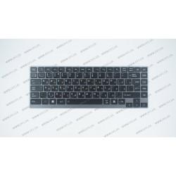 Клавиатура для ноутбука TOSHIBA (U800, U835, U840, U900, U920, Z380) rus, black, подсветка клавиш