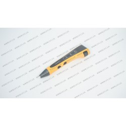 3D ручка DFI модель G8H (пластиковый корпус, сопло 0.7мм, ABS, PCL, PLA пластик 1.75мм, лед индикаторы режима работы, 3 режима скорости подачи пластика, вес 48 грамм), цвет оранжевый
