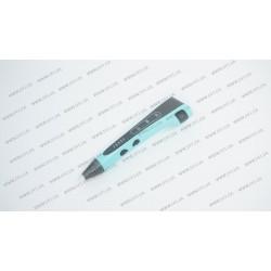 3D ручка DFI модель G8H (пластиковый корпус, сопло 0.7мм, ABS, PCL, PLA пластик 1.75мм, лед индикаторы режима работы, 3 режима скорости подачи пластика, вес 48 грамм), цвет голубой