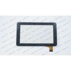 Тачскрин (сенсорное стекло) YTG-P70025-F1 V1.0, 7, внешний размер 186*111мм, рабочая часть 155*86мм, 30 рin, черный