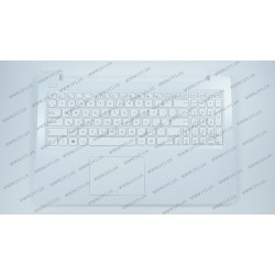 Клавиатура для ноутбука ASUS (E502 series Keyboard+передняя панель) rus, white