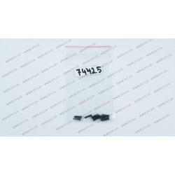 Винты корпусные для ноутбуков, диаметр 2.5мм, длина 10 мм, черные (10 штук)