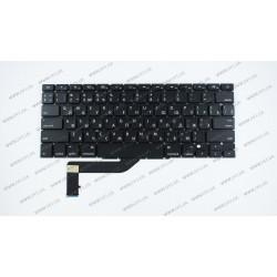Клавиатура для ноутбука APPLE (MacBook Pro Retina: A1398 (2012-2015)) rus, black, SMALL Enter