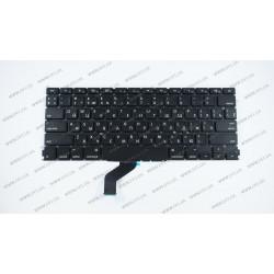 Клавиатура для ноутбука APPLE (MacBook Pro Retina: A1425 (2012-2013)) rus, black, SMALL Enter