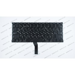 Клавиатура для ноутбука APPLE (MacBook Air: A1369, A1466 (2011-2017)) rus, black, SMALL Enter