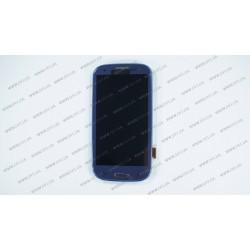 Модуль матрица + тачскрин  для Samsung Galaxy S3 (I9300i), blue
