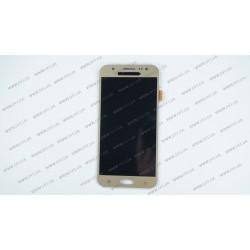Модуль матрица + тачскрин  для Samsung Galaxy J5 (J500H/DS, J500F/DS, J500M/DS), golden (TFT)