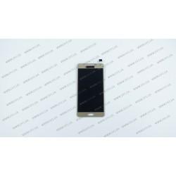 Модуль матрица + тачскрин  для Samsung Galaxy A5 (A500F, A500FU, A500H), golden (TFT)