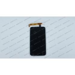 Модуль матрица + тачскрин для HTC S720e One X, G23, X325e One XL, black, оригинал
