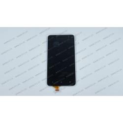 Модуль матрица + тачскрин для HTC T528D One SC, black, оригинал