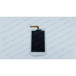 Модуль матрица + тачскрин для HTC X315e Sensation XL, G21, white, оригинал