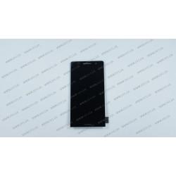 Модуль матрица + тачскрин для Huawei Ascend P6-U06, black, оригинал