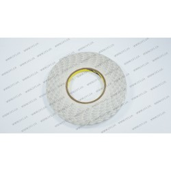 Скотч двухсторонний прозрачный 3M, белый, ширина 6мм, толщина 0,15 мм, длина - 50 метров (ОРИГИНАЛ)