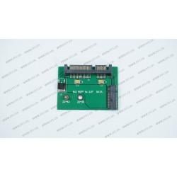 Переходник для ноутбуков M.2 NGFF SSD на SATA (для подключения M.2 NGFF в разъем SATA), small 22*42mm