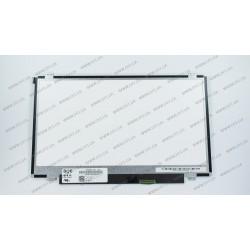 Матрица 14.0 HB140WX1-400 (1366*768, 40pin, LED, SLIM (вертикальные ушки), матовая, разъем справа внизу) для ноутбука