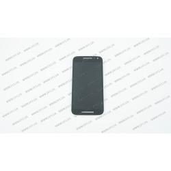 Модуль матрица + тачскрин для Motorola XT1540 Moto G3, XT1541, XT1544, XT1548, XT1550, black, оригинал