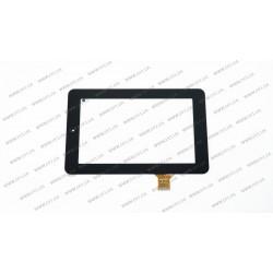 Тачскрин (сенсорное стекло) для Prestigio MultiPad PMT3017 Wize, MA705D5 10112-0A5067A, 7, внешний размер 190*120 мм, рабочий размер 155*91 мм, 30 pin, черный