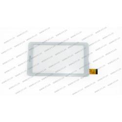 Тачскрин (сенсорное стекло) для Assistant AP-727G,XC-PG0700-024-A5 FPC, 7, внешний размер 185*104 мм, рабочий размер 155*87 мм, 30 pin, белый