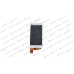 Модуль матрица + тачскрин для Sony D5803 Xperia Z3 Compact Mini, D5833, white, оригинал