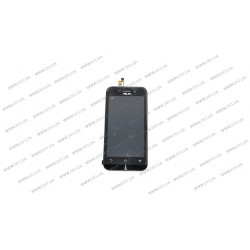Модуль матрица + тачскрин для Asus ZB452KG, ZenFone GO, X014D, black, с рамкой