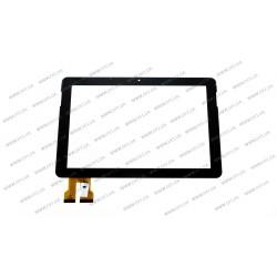 Тачскрин (сенсорное стекло) FPC-10101B4, 10,1, внешний размер 251*166 мм, внутренний размер 218*136 мм, 74 pin, черный