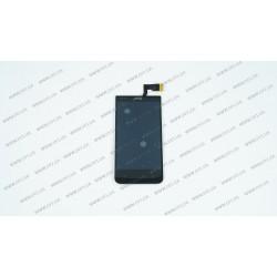 Модуль матрица + тачскрин для HTC Desire 300, Desire 301e, black, оригинал
