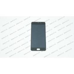 Модуль матрица + тачскрин для Meizu M5 Note (M621), black, оригинал