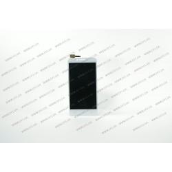 Модуль матрица + тачскрин для Lenovo A2020, a40 Vibe C, white, оригинал