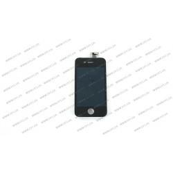 Модуль матрица + тачскрин для Apple iPhone 4G, black, high copy