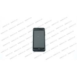 Модуль матрица + тачскрин для HTC Desire 610 , в рамке,  black