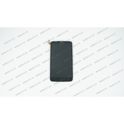 Модуль матрица + тачскрин для HTC One X S720e, black