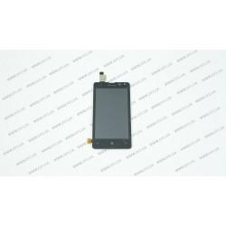 Модуль матрица + тачскрин для Microsoft Lumia 532 DS (Nokia), black