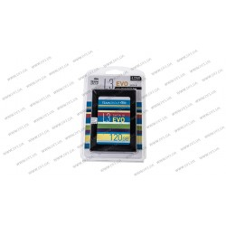 Жесткий диск 2.5 SSD  120Gb Team L3 EVO Series, T253LE120GTC101, TLC, SATA III 6Gb/s, 2.5, зап/чт. - 400/530мб/с