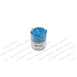 Теплопроводная паста (термопаста) серая силиконовая Halnziye, банка - 10грамм, теплопроводность - 1.93 Вт/(м*К)
