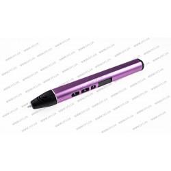 3D ручка DFI модель G3R (металлический корпус, сопло 0.6мм, PCL, PLA пластик 1.75мм, цифровой дисплей с регулировкой температуры до 1 градуса (диапазон 70-180 градусов), цифровая регулировка скорости подачи, вес 48 грамм), цвет розовый