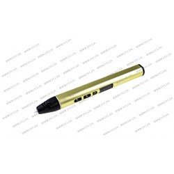 3D ручка DFI модель G3R (металлический корпус, сопло 0.6мм, PCL, PLA пластик 1.75мм, цифровой дисплей с регулировкой температуры до 1 градуса (диапазон 70-180 градусов), цифровая регулировка скорости подачи, вес 48 грамм), цвет зеленый
