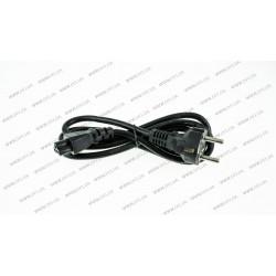 Сетевой кабель для адаптера питания ноутбука, 3pin, 1м, прямая вилка