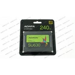 Жесткий диск 2.5 SSD  240GB ADATA ULTIMATE SU630 Series, ASU630SS-240GQ-R, 3D NAND QLC, SATA-III 6Gb/s, зап/чт. - 450/520мб/с