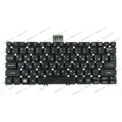 Клавиатура для ноутбука ACER (AS: SP111-31, SP111-31N) rus, black, без фрейма