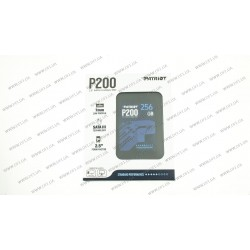 Жесткий диск 2.5 SSD  256Gb Patriot P200 Series, P200S256G25, TLC 3D, SATA-III 6Gb/s, зап/чт. - 460/530мб/с