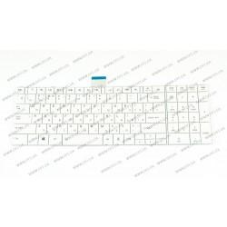 Клавиатура для ноутбука Toshiba (Satellite: C50, C50D, C55, C55D) rus, white (chiclet)