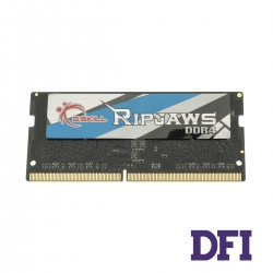 Модуль памяти SO-DIMM DDR4! 4GB 2400Mhz PC4-19200 G.Skill Ripjaws Series, 1.2V, CL16-16-16-39 (F4-2400C16S-4GRS)