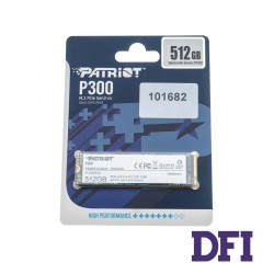 Жесткий диск M.2 2280 SSD  512Gb Patriot P300 Series, P300P512GM28, NVMe1.3 PCIe3.0 x4, 3D NAND TLC, зап/чт. - 1200/1700мб/с