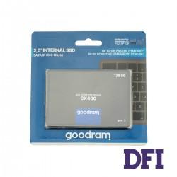Жесткий диск 2.5 SSD  128Gb Goodram CX400 Gen.2 Series, SSDPR-CX400-128-G2, 3D NAND (TLC), SATA-III 6Gb/s, зап/чт. - 460/550мб/с