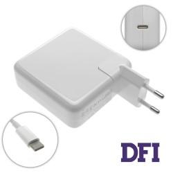 Блок питания для ноутбука APPLE USB-C 61W (20.3V/3A, 14.5V/2A, 9V/3A, 5.2V/2.4A), Type-C, USB3.1, White (с кабелем!) (A1718)