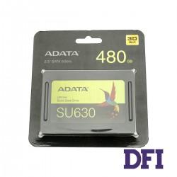 Жесткий диск 2.5 SSD  480GB ADATA ULTIMATE SU630 Series, ASU630SS-480GQ-R, 3D QLC, SATA-III 6Gb/s, зап/чт. - 450/520мб/с