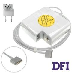 Оригинальный блок питания для ноутбука APPLE MagSafe2 20V, 4.25A, 85W, White (с евро-адаптером), T-образный разъём MagSafe2