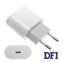 Оригинальный блок питания APPLE USB-C 18W, Type-C, White (для iPhone, iPad, с кабелем USB-C!)